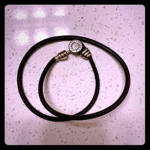 Pandora leather bracelet, gently used.
